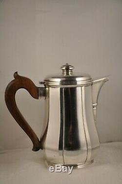 Theiere Poureuse Antique Art Deco Coffeemaker Sterling Silver Minerve Tetard Frs 590g