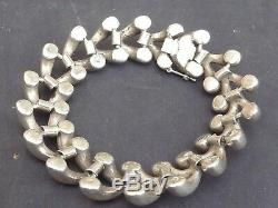 Very Beautiful And Old Bracelet For Women In Sterling Silver Art Deco