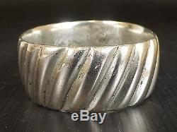 Very Old Berber Bracelet In Silver Massif. Beni Yenni, Kabylie. 163 Gr