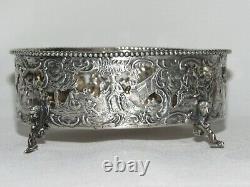 08F32 ANCIENNE JARDINIÈRE DE TABLE EN ARGENT MASSIF POINÇONS XVIIIe OU HANAU