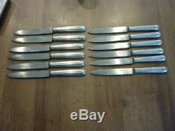 12 couteaux ancien à viande en argent massif cardeilhac