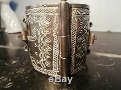 186gr Ancien Bracelet Berbère Argent massif/Kabyle-Ancien Bijou Ethnique