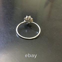 19e ANCIENNE BAGUE DIAMANT, ARGENT / ANTIK GEORGIAN ROSE CUT DIAMOND RING