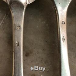 300g Argent Massif Poinçon Vieillard Minerve Lot de Couvert Ancien Atelet Silver