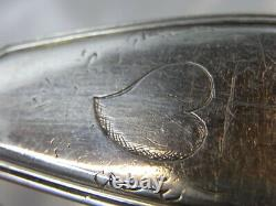 ANCIENNE GRANDE CUILLERE ARGENT MASSIF FERMIERS GENERAUX MODELE FILET 18 éme