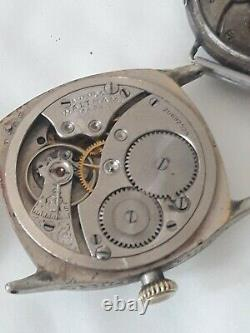 ANCIENNE Montre Omega militaire ww1 argent massif WALTHAM MILITARY WATCH