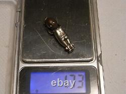 Ancien Bijou Fimsup Porte Bonheur Pendentif Bebe Mobile Automate Argent Jewel