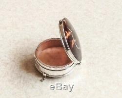 Ancien Boîte à bijoux en argent Horton & Allbay