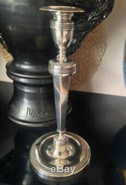 Ancien Bougeoir en argent Massif Belgique XIXéme décor restauration 448g