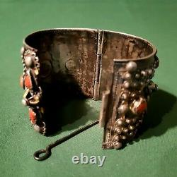 Ancien Bracelet Manchette Berbére Kabyle Beni Yenni