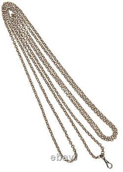 Ancien Sautoir Chaine en Argent Massif Très bon état 39grs 160cm