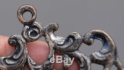 Ancien bénitier en argent massif 800 époque 19 eme siècle ITALIE ENFANT JESUS