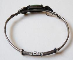 Ancien bracelet ARGENT massif signé Paul DUMONT Art nouveau vers 1910