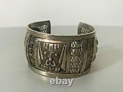 Ancien bracelet en argent massif Chine Indochine Vietnam silver chinese bangle