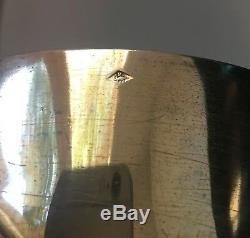 Ancien calice en argent massif vermeil, pied métal doré et croix en émaux