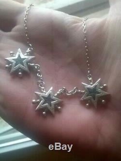 Ancien collier étoiles de digne saint vincent argent massif XIXème