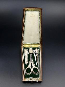 Ancien nécessaire à couture en argent massif Charles X XIXeme Antique sewing set