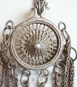 Ancien nécessaire fumeur ou manucure ARGENT Chine chatelaine silver