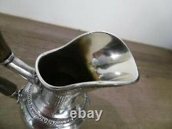 Ancien pot à lait crémier en argent massif minerve décors empire