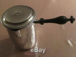 Ancien pot verseur casserole en argent massif poinçon vieillard décor Malmaison