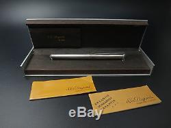 Ancien vintage stylo ST Dupont en argent massif plume or 18k dans son écrin