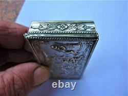 Ancienne Boite Argent Décor D'amours Angelots Putti Silver Box Silberne Box
