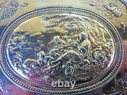Ancienne Boite Argent Massif Minerve Scène Pastorale Silver Box Silberne Box