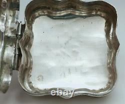 Ancienne Boîte Coffret Argent Massif Hollandais 19ème Initiales Old Silverbox