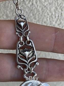 Ancienne Chatelaine Argent Massif Silver Art Nouveau BECKER Serpettes Muguet