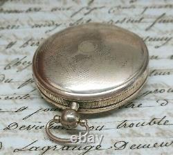 Ancienne Montre Gousset Au Coq Espagne Picada Cadix 1818 Fonctionne Old Watch