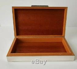 Ancienne boite à cigare coffret argent massif Old cigar box in sterling silver