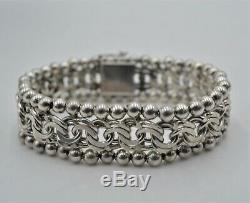 Ancienne bracelet en argent massif 835 charançon