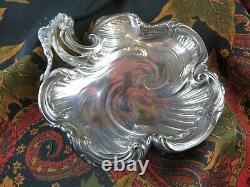 Ancienne ecuelle coupe style LXV en argent massif poincon etranger epXIXe silver
