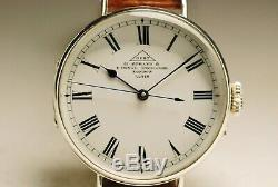 Ancienne montre DENT 35mm ARGENT 1900 RARE CENTER SECONDS vintage SILVER watch