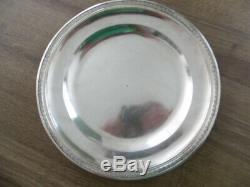 Ancienne paire d'assiettes en argent massif poinçon 1er coq 887 gr