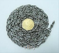 Antique Chain Watch Pocket Necklace Chaine Montre Sautoir Ancien Argent Massif