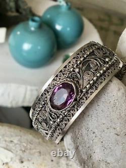 Antique Silver Berber Bracelet Ancien Mauresque Kabyle 19eme En Argent Ethnique