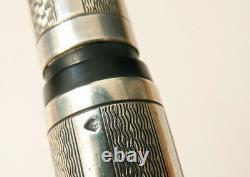 Beau stylo plume ARGENT massif + Bakélite plume OR ancien vers 1930