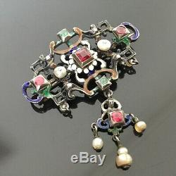 Bijou Ancien Austro Hongrois Broche Néo Renaissance XIXè Hungarian Jewel 19thC