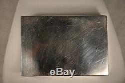 Boite A Cigarettes Ancien Argent Massif Antique Solid Silver Cigarette Case Box