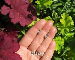 Boucles doreilles dormeuses trembleuses anciennes Or massif 18 carats argent