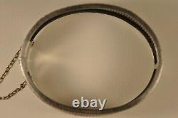 Bracelet Ancien Argent Massif Or Antique Solid Silver Bangle