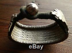 Bracelet Argent Ancien Ethnique Inde Rajasthan 112g Antique Indian Silver Bangle