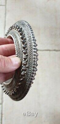 Bracelet Ethnique En Argent Ancien De Cheville 500 Grs Mauritanie Ou Berbere