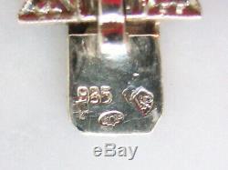 Bracelet ancien Art Déco argent diamants d'imitation Style joaillerie Superbe