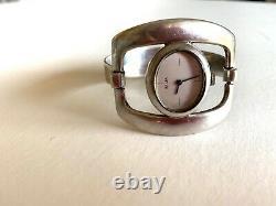 Bracelet montre ancienne SUJA argent massif