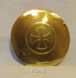 CALICE & PATENE ANCIENS argent vermeil 1900 Chalice paten sterling silver gilt