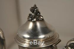 Cafetiere Verseuse Ancien Argent Massif Antique Solid Silver Coffee Pot 404gr