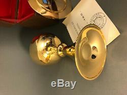 Calice ancien argent massif métal doré avec patène- FRENCH MODERN CHALICE +paten