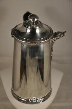 Chocolatiere Ancien Argent Massif Antique Solid Silver Chocolate Pot Mo Lefebvre